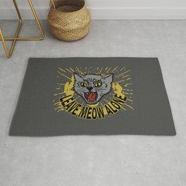 Leave Meow Alone – Funny cat Rug