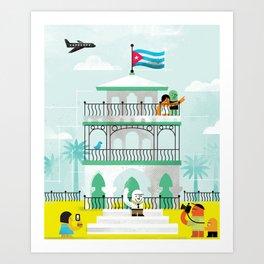 Viva Cuba! Art Print
