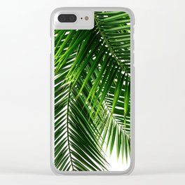 Palm Leaves #3 Clear iPhone Case