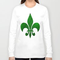 renaissance Long Sleeve T-shirts featuring Renaissance Green by Charma Rose
