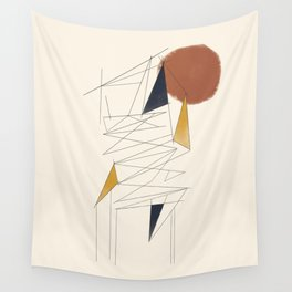 shapes and lines Wall Tapestry