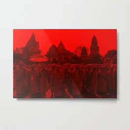 Red Monks - Cambodia Metal Print