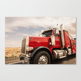 Red truck California Canvas Print