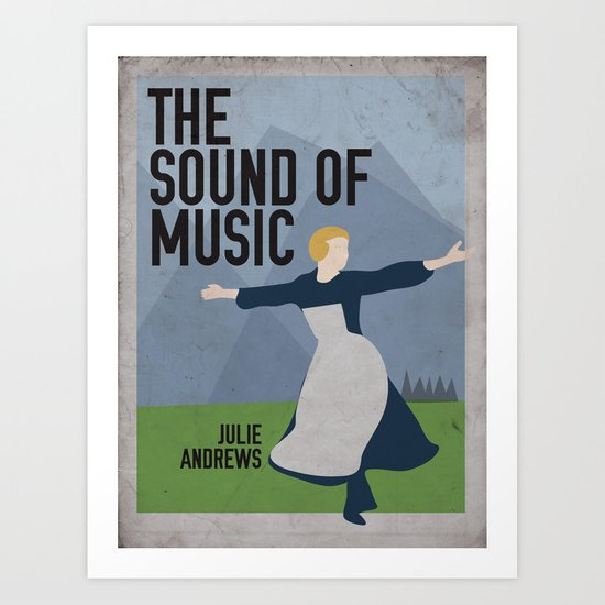 The Sound of Music Staring Julie Andrews Art Print