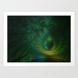 Peacock Sunset Art Print