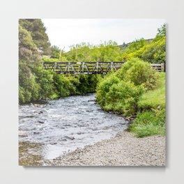 New Zealand Country Bridge Metal Print