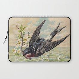 Vintage Ocean Swallow Laptop Sleeve