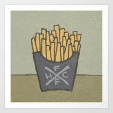FRENCH FRY HARDCORE Art Print
