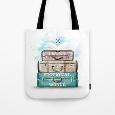 I WANT TO LIVE IN A FICTIONAL WORLD Tote Bag