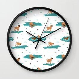 waterdogs pattern Wall Clock