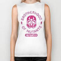 xmen Biker Tanks featuring Bad Boy Club: Brotherhood of Mutants  by Josh Ln