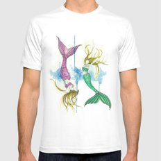 Zodiac - Pisces MEDIUM White Mens Fitted Tee
