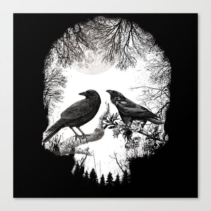 crow skull Leinwanddruck