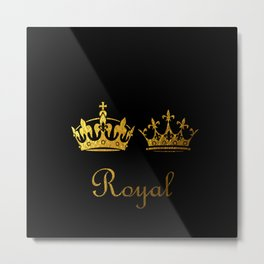 Royal King & Queen Metal Print