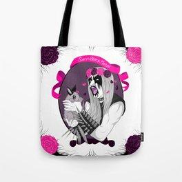 Sann Black Metal Tote Bag