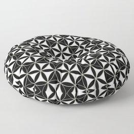 Flower of Life Pattern black-white Floor Pillow
