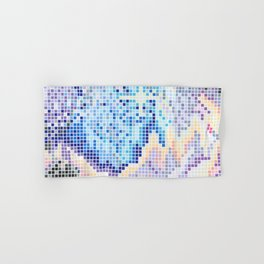 Pixelated Nebula Blue Hand & Bath Towel