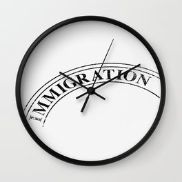 Immigration Stamp Wall Clock