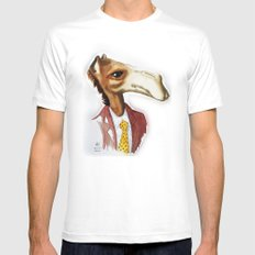 Mr. Camel Mens Fitted Tee MEDIUM White