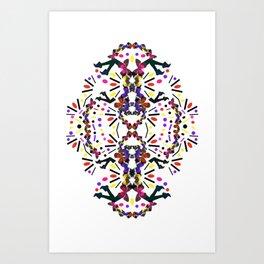 nostalgic pattern Art Print