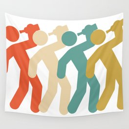Drinking Icon Retro Wall Tapestry