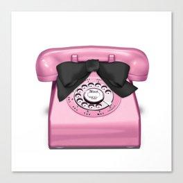 Telephone Girl Talk Pink Canvas Print