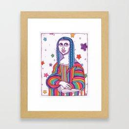 Mona Lisa Frank Framed Art Print