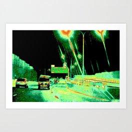 A Little Night Drive Art Print