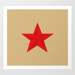 Red Star Communist Art Print