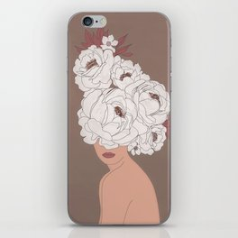 Woman with Peonies iPhone Skin