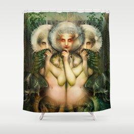"""The Chimera"" (or ""Faith"") Original Full Version HR Shower Curtain"