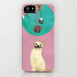 Woolly mind handcut collage iPhone Case