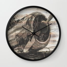 Old airplane 1 Wall Clock