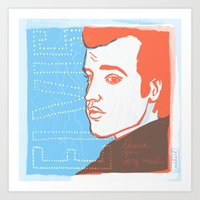 elvis Art Prints featuring Elvis by The Printed Peanut