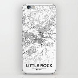 Minimal City Maps - Map Of Little Rock, Arkansas, United States iPhone Skin