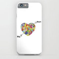 Heart Map Slim Case iPhone 6s