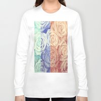 vintage flowers Long Sleeve T-shirts featuring Vintage Flowers by Del Vecchio Art by Aureo Del Vecchio