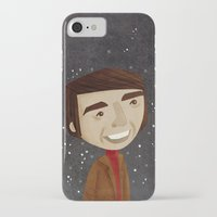 sagan iPhone & iPod Cases featuring Carl Sagan by Stephanie Fizer Coleman