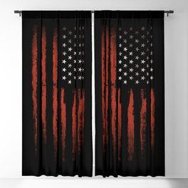 American flag Grunge Black Blackout Curtain