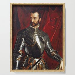Lorenzo Medici in Gothic Armor Serving Tray