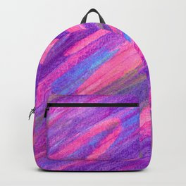 Pink Candy Inspired Abstract with Gold Accents Backpack