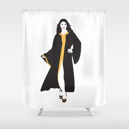 Mystique White Woman Shower Curtain