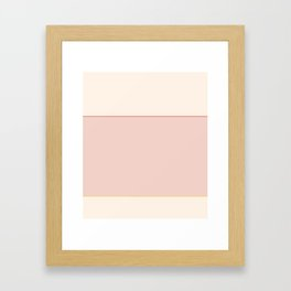 Subtle Spring Color Block Framed Art Print