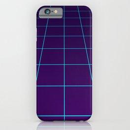 Minimalist Synthwave Retro Lines iPhone Case