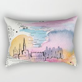 The arrival of the baby boy Rectangular Pillow