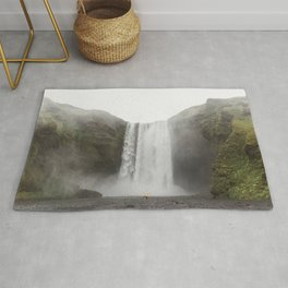 Skógafoss waterfall - lanscape photography Rug