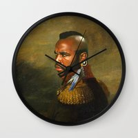 replaceface Wall Clocks featuring Mr. T - replaceface by replaceface
