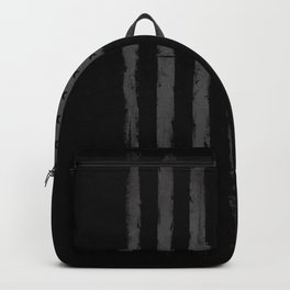 American flag Grunge Deep Black Backpack