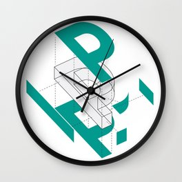 Exploded P Wall Clock