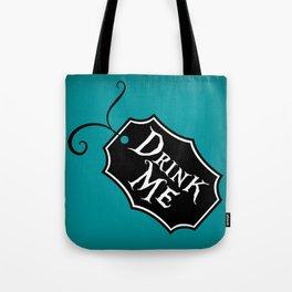 """""""Drink Me"""" Alice in Wonderland styled Bottle Tag Design in 'Alice Blue' Tote Bag"""